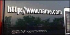 Domain name plates are a great advertising tool