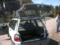 2002 Subaru Forester Review - rear cargo door view